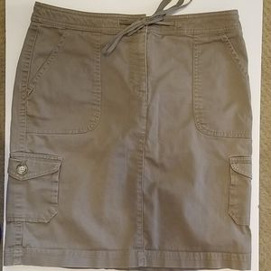Ll bean khaki skirt